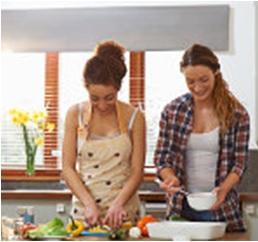 Meisjes koken
