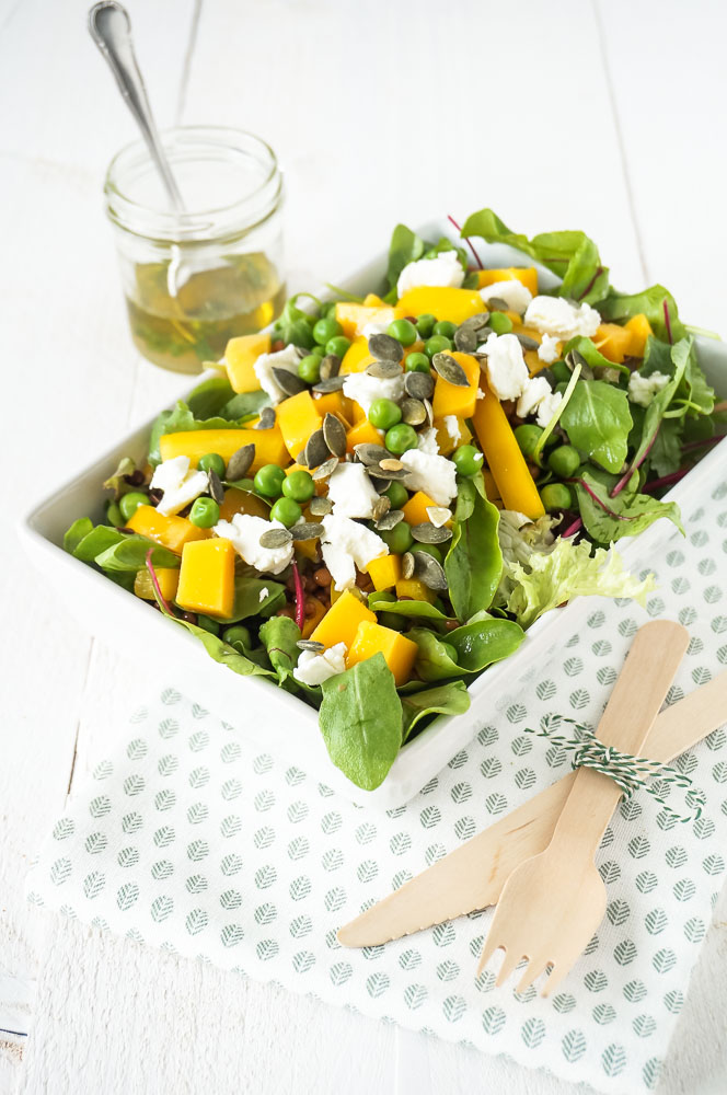 salade mango geitenkaas