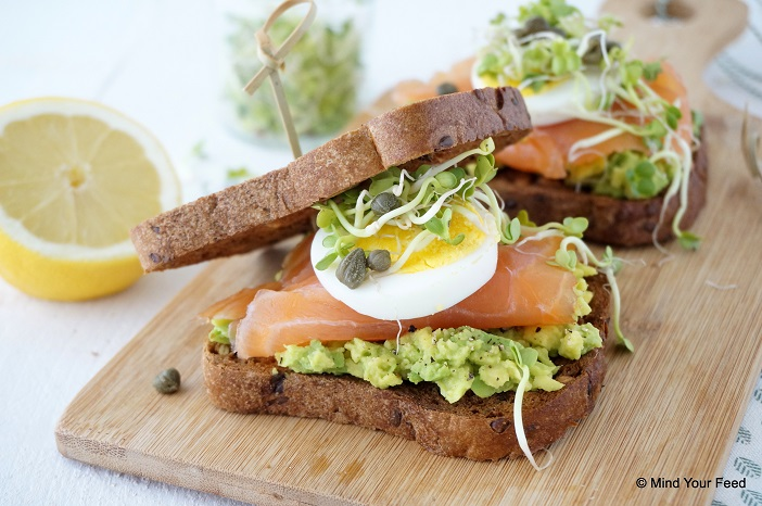 sandwich zalm avocado