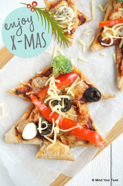 kerstboom pizza