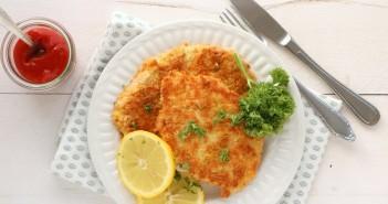 wiener schnitzel, recept om zelf wiener schnitzels te maken, kalf schnitzel, glutenvrij, Oostenrijks recept
