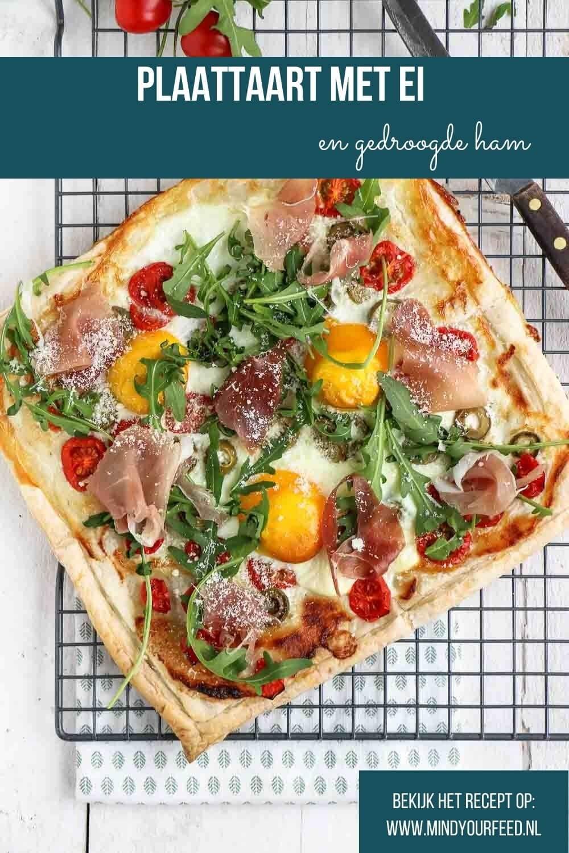 plaattaart met ei en ham, makkelijk recept hartige taart bladerdeeg, Pasen, Paasbrunch recept
