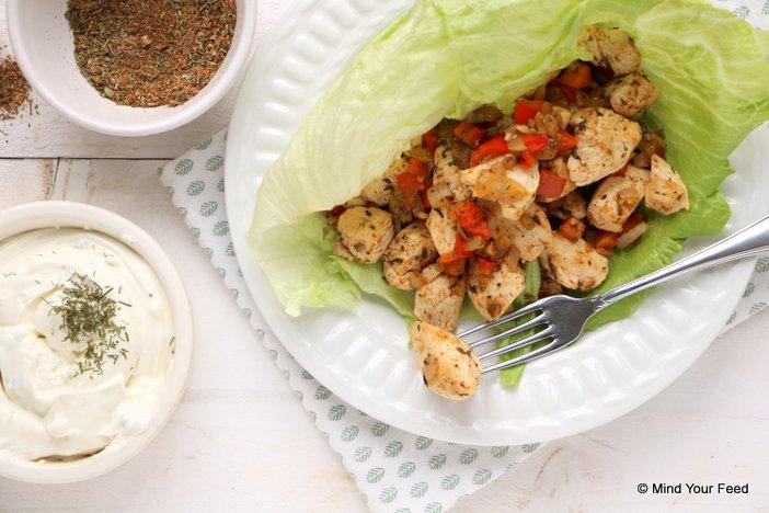 kip gyros met tzatziki. Makkelijke recepten kip.