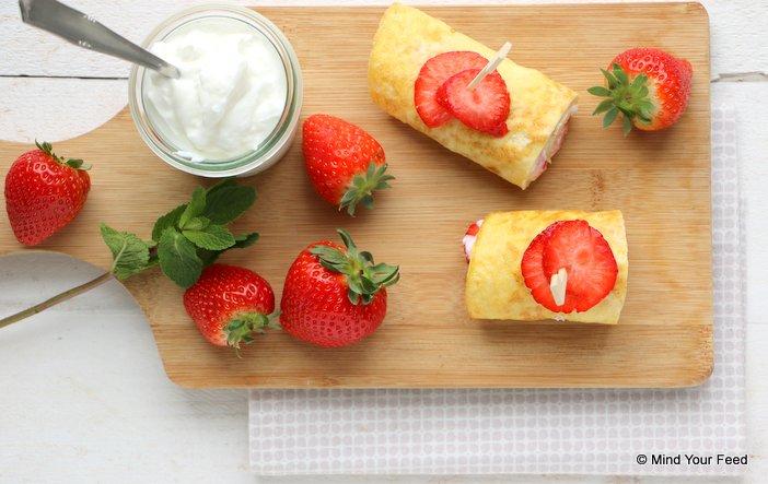 ontbijtwrap met aardbei)