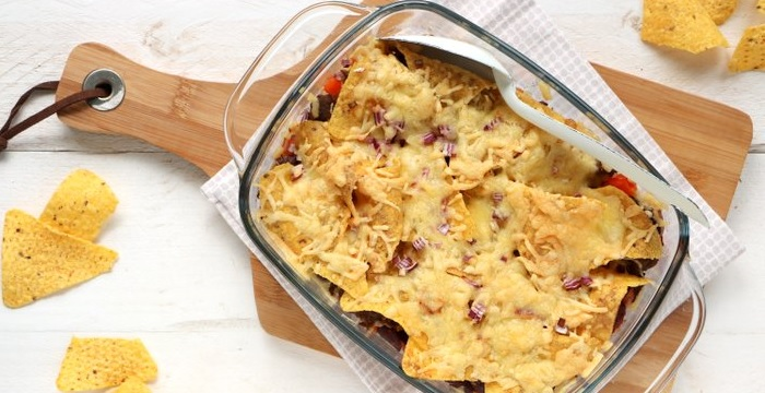Mexicaanse nacho ovenschotel