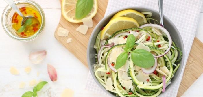 courgette spaghetti aglio e olio