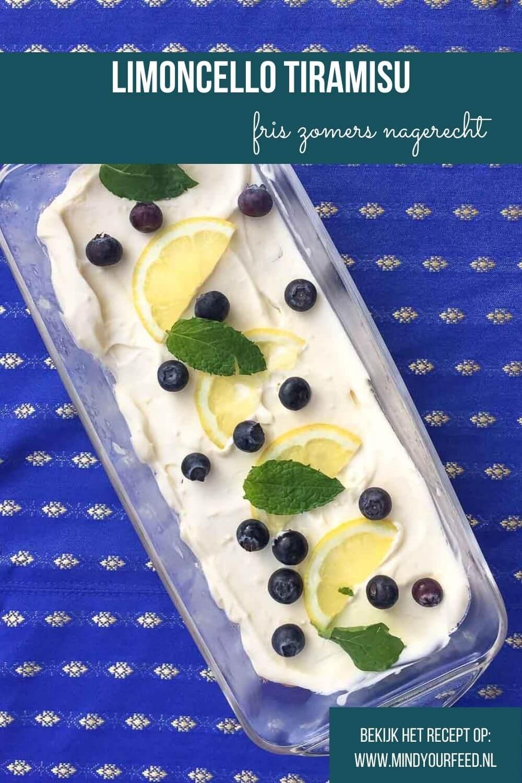tiramisu met limoncello, makkelijk recept voor tiramisu met mascarpone en slagroom, frisse citroen en limoncello likeur