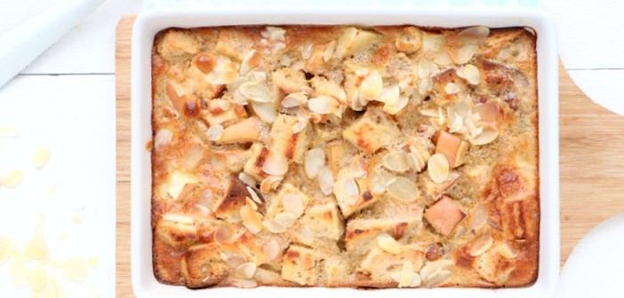 appel kaneel broodpudding