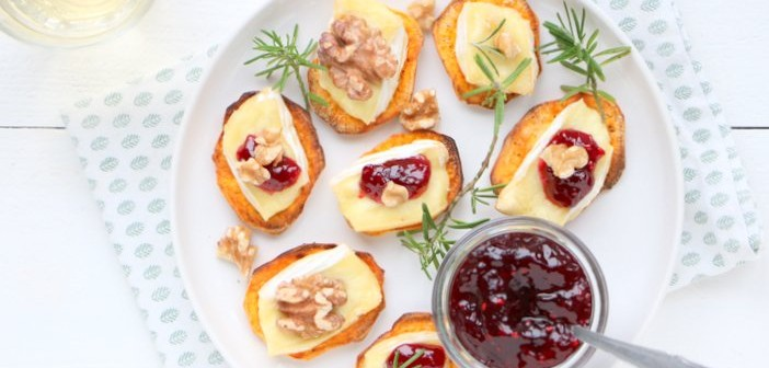 zoete aardappel toastjes