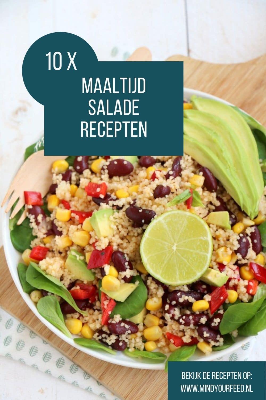 maaltijdsalade recepten, heerlijke zomerse salade recepten met pasta, rijst, couscous of brood.