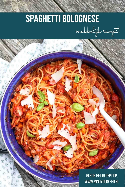 spaghetti bolognese recept, Italiaans recept voor makkelijke spaghetti, eenpans recept, zelf bolognese maken