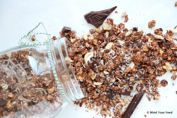 granola, granola recept, granola recept gezond, zelf granola maken, granola makkelijk recept, granola met gedroogde cranberries, wat is granola