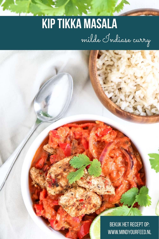 Kip Tikka Masala, makkelijk recept voor de Indiase curry Masala, makkelijke maaltijd, recept, zelf tikka masala maken