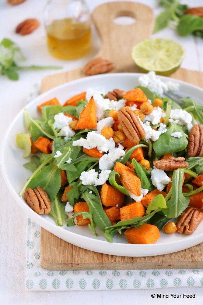 zoete aardappel salade recepten