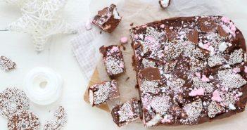 kerstkransjes chocolade fudge