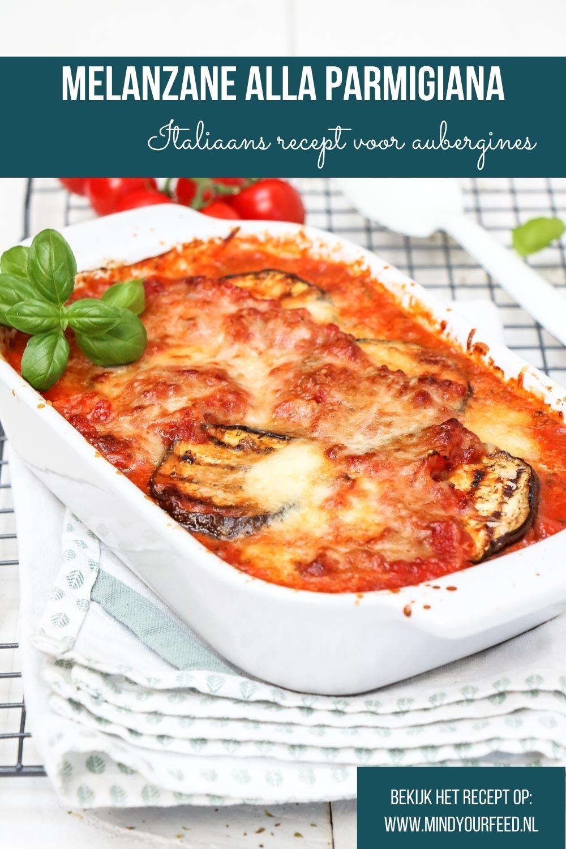 Melanzane alla parmigiana, Italiaans aubergine recept met tomaten, parmezaanse kaas en mozzarella. Bijgerecht bij Italiaanse gerechten of vegetarisch hoofdgerecht.