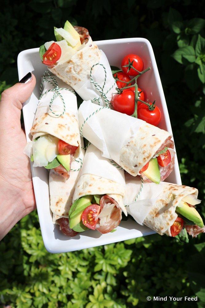picknick recepten, picknick wraps
