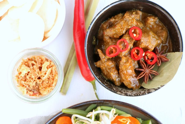 indonesisch stoofvlees rendang