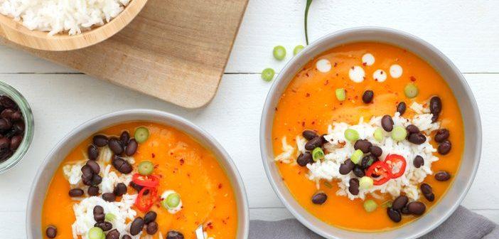pompoensoep, pompoen soep, vegetarische pompoen soep, recept, maaltijdsoep met pompoen