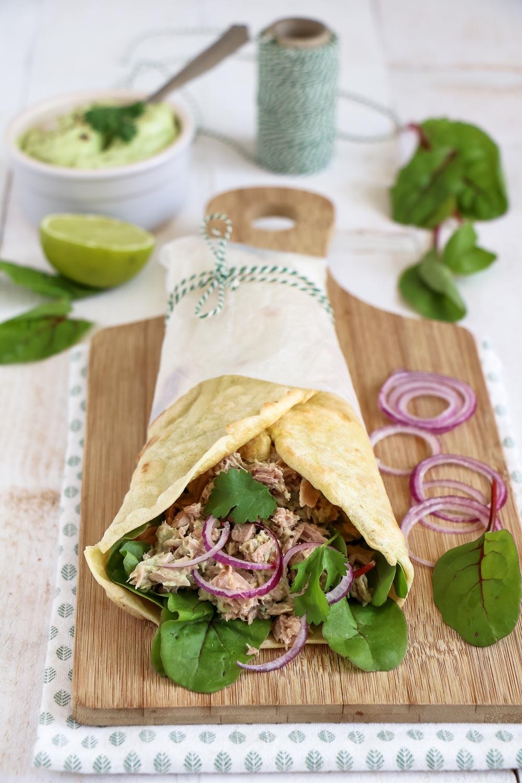 lunch wrap recepten, wrap met tonijn, wrap met kip, vegetarische wrap recepten, lunch wraps