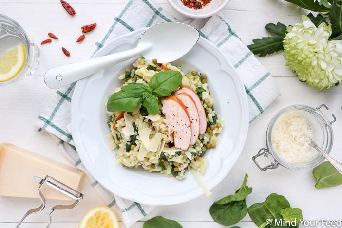 risotto met spinazie, risotto recept, risotto vegetarisch, risotto met tomaat, risotto maken, risotto bouillon