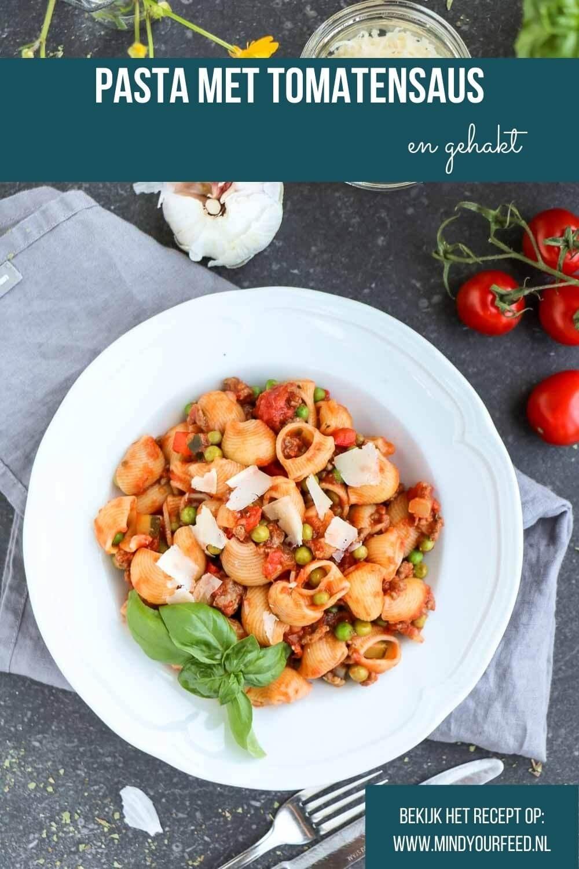 Pasta met tomatensaus en gehakt, echt makkelijk en snel recept voor pasta maaltijd