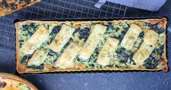 quiche met courgette