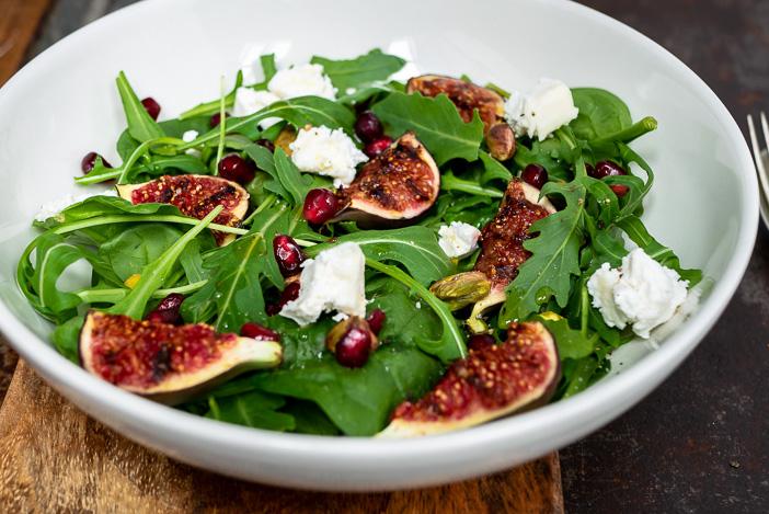 salade met vijgen