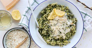 risotto met spinazie en kabeljauw