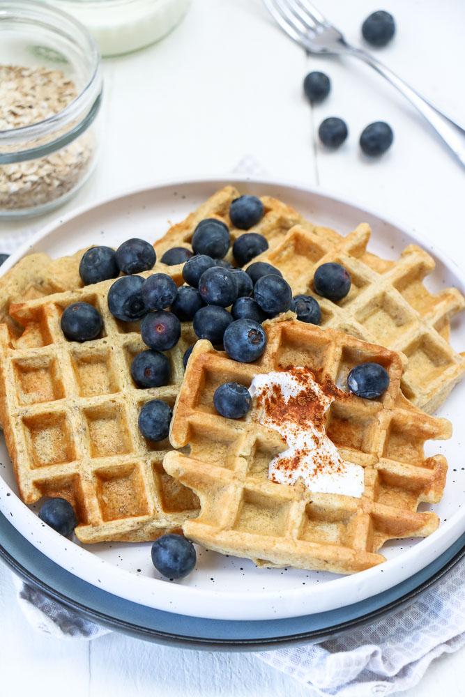 banaan havermout wafels, ontbijt wafels, zelf wafels maken, gezonde wafels, recept