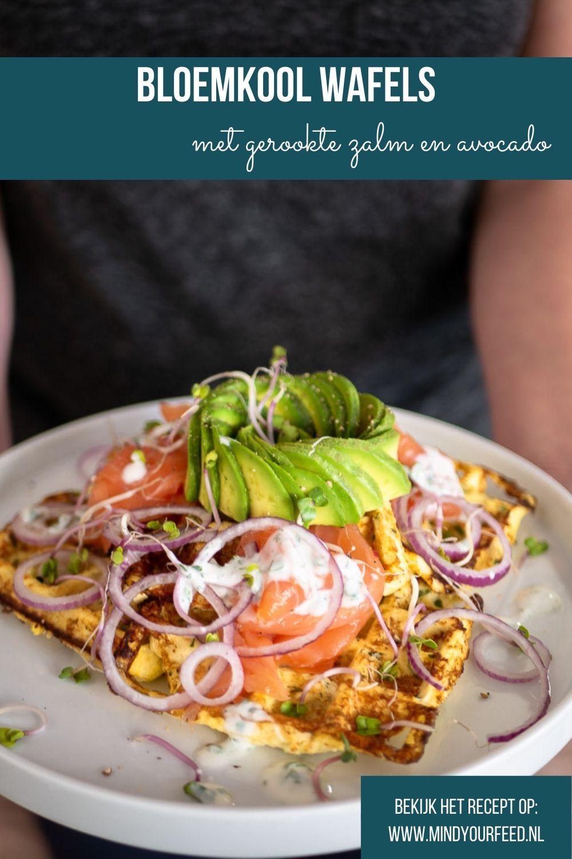 Bloemkoolwafels, makkelijk recept voor bloemkool wafels, hartige wafels van bloemkool en kaas. Heerlijk als lunch recept.