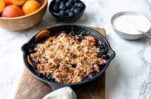 abrikozen havermout crumble