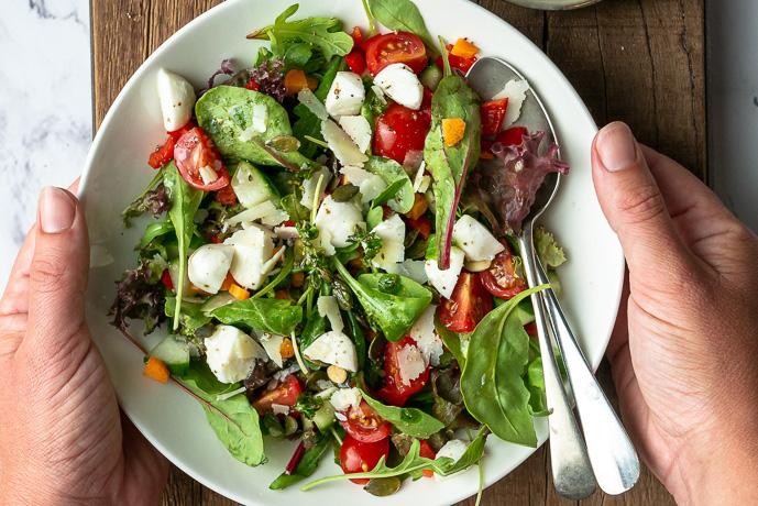 groene salade, makkelijk recept voor basis salade