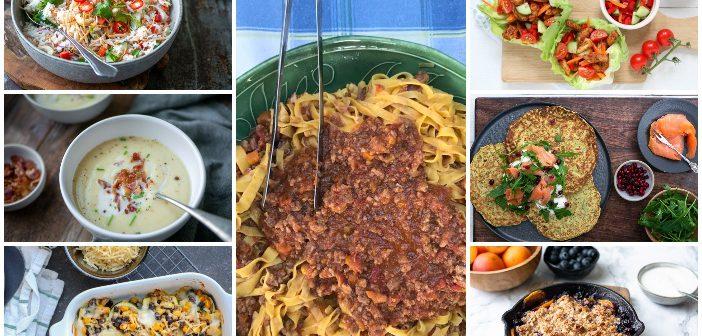 weekmenu makkelijke maaltijden gezonde recepten
