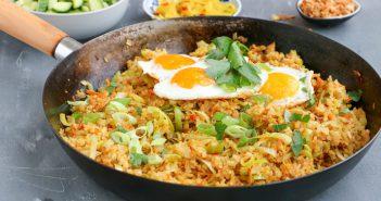nasi goreng, indonesische nasi goreng, nasi recept, zelf nasi maken zonder pakjes en zakjes