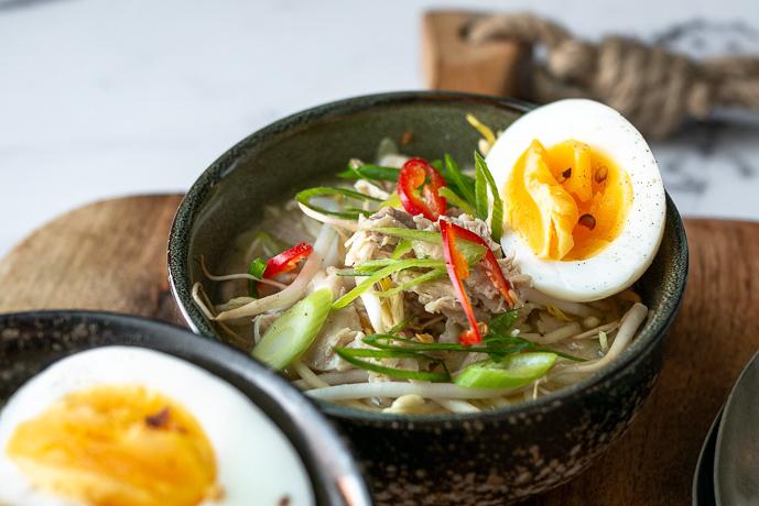 bamisoep met kip, bamisoep recept, bamisoep met ei, Indonesische recepten, bami soep recept