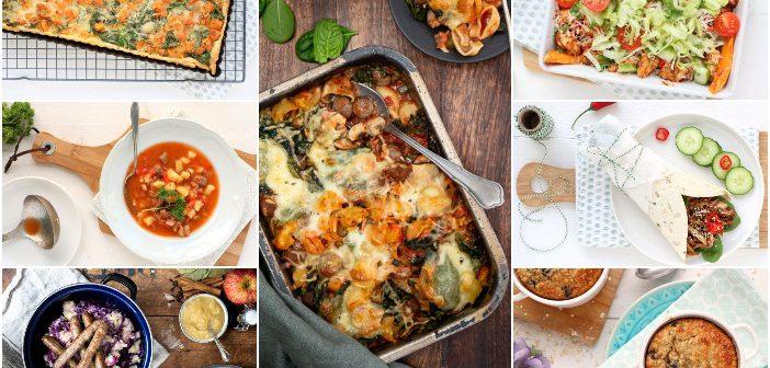 weekmenu makkelijke maaltijden, snelle gezonde recepten, lekker en simpel, avondmaaltijd gezond, weekplanning,