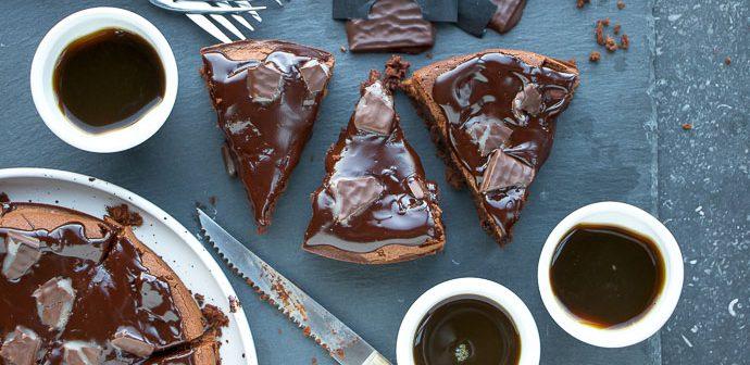 pure chocoladetaart