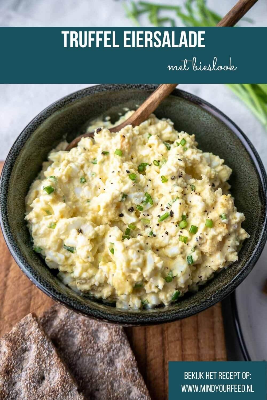 truffel eiersalade met bieslook, zelf eiersalade maken