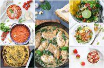 Weekmenu makkelijke gezonde maaltijden en recepten, lekker en snel