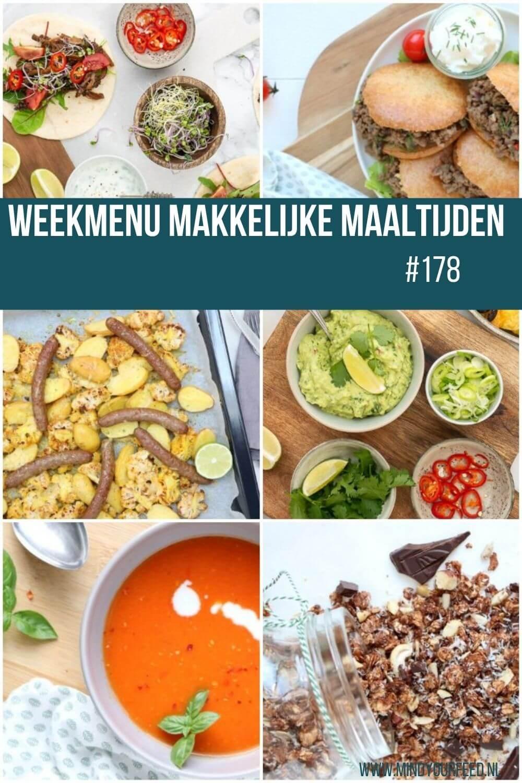 Weekmenu makkelijke maaltijden lekkere snelle gezonde recepten voor elke dag van de week!