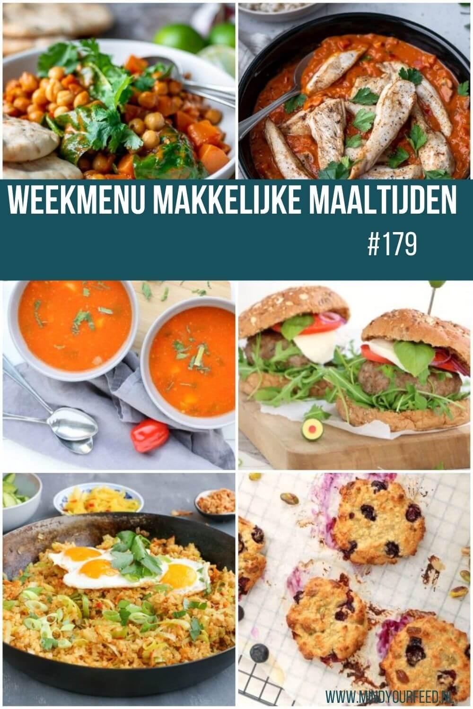 weekmenu makkelijke maaltijden gezonde recepten avondmaaltijd