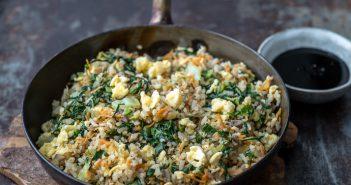 gebakken rijst, nasi, fried rice, gebakken rijst met ei, recept