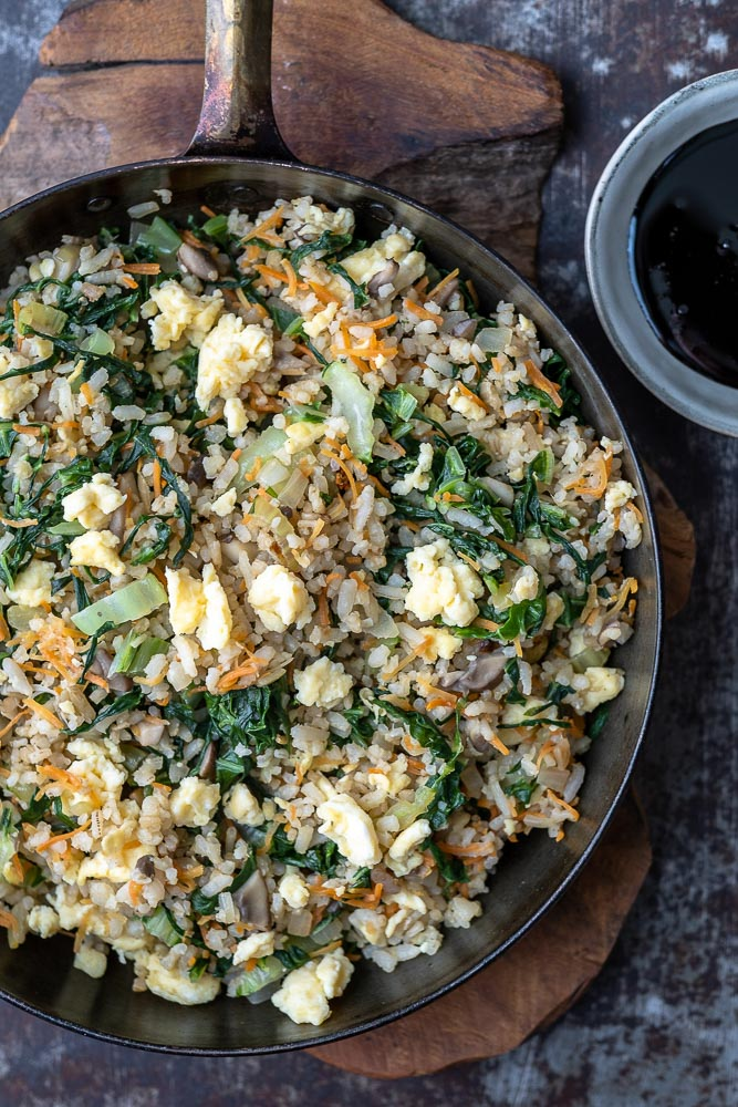gebakken rijst, fried rice, recept, nasi goreng