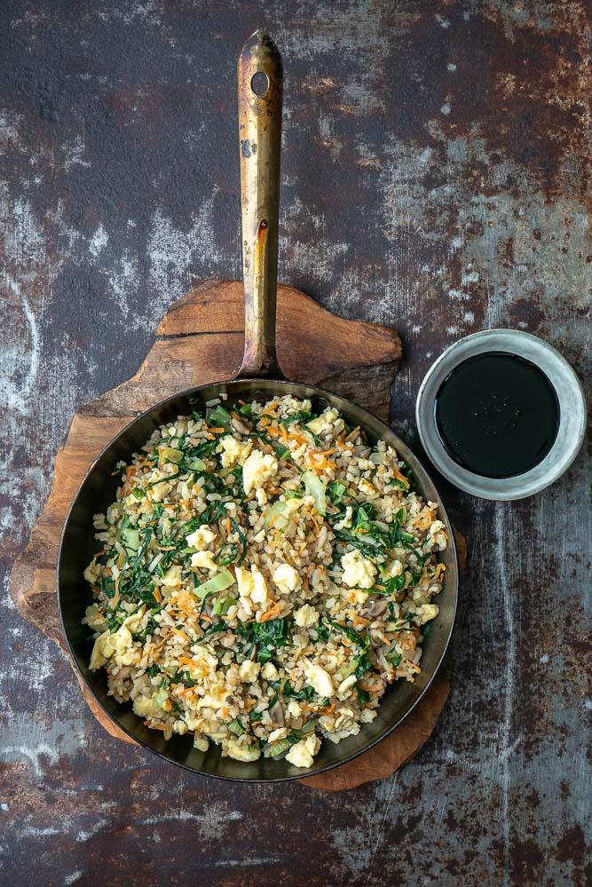 gebakken rijst, fried rice, gebakken rijst met ei, recept, nasi goreng