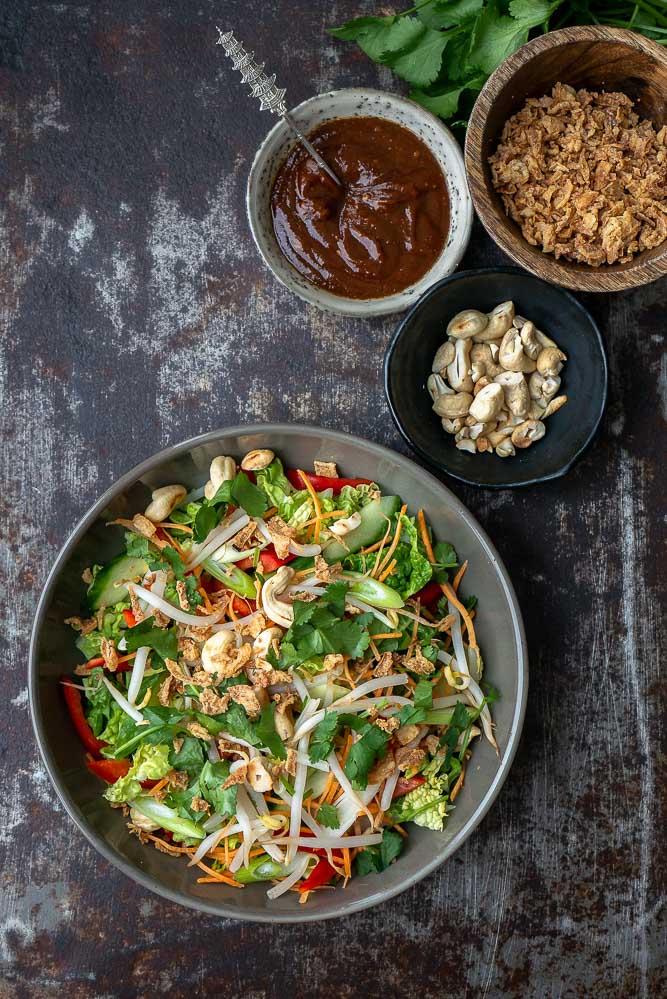 Chinese kool salade, Oosterse salade, bijgerecht, bbq recept, Aziatische koolsalade