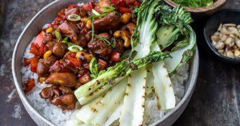 Kip cashew, makkelijk recept voor Oosterse kip met cashewnoten en zoetzure saus