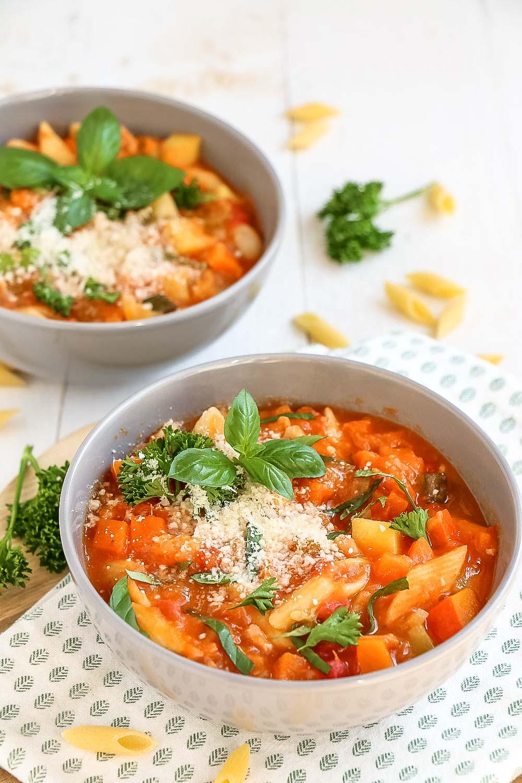 weekmenu recepten, makkelijke maaltijden, Minestronesoep