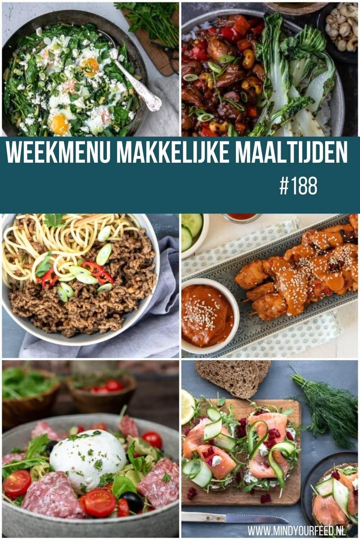 weekmenu, makkelijke maaltijden gezonde recepten