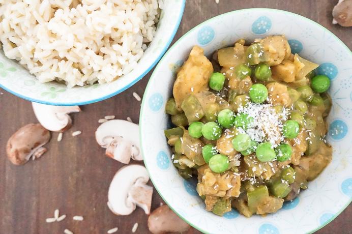 makkelijk recept voor romige milde curry met kip en kokosmelk